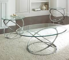 glass end table set glass coffee table with silver base coffee tables pinterest