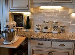 backsplash cheap kitchen ideas pattern tile granite travertine