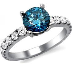 real diamond rings images Real natural 1 30ct solitaire blue diamond ring in 14k white gold jpg
