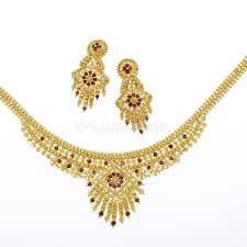 gold earrings necklace images Gold necklace and matching earrings editorial photo image of jpg