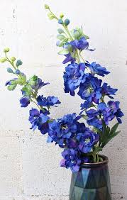 delphinium flower blue faux delphinium stem blue wedding flowers afloral