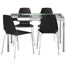 Aluminum Dining Room Chairs Small Ikea Kitchen Table And Chair Tempered Glass Table Top
