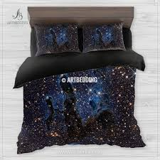 Space Bed Set Infra View Of The Eagle Nebula Bedding Abstract Space Bedding
