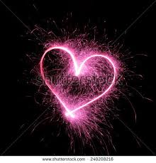 heart sparklers sparklers heart using shutter stock photo 240208216