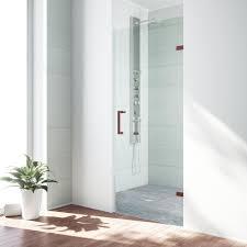 26 interior door home depot vigo soho 26 5 in x 70 625 in frameless pivot shower door with