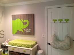 kellan u0027s gray and lime green elephant nursery project nursery