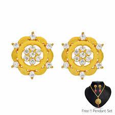 stylish gold earrings earrings gifts send earrings india