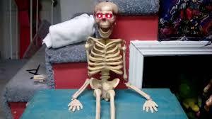 christmas tree shop halloween 2014 gemmy talking skeleton youtube