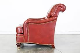 Vintage Leather Club Chair Burgundy Leather Club Chair By Hickory Chair Company Vintage
