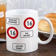 geburtstagsspr che zum 16 tasse verkehrzeichen 16