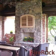Firerock Masonry Fireplace Kits by Covered Patio And Outdoor Fireplace In St Petersburg Fl From 1