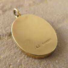 Pendant Engraving Vintage Locket Pendant Charm With Floral Engraving In 9ct Gold