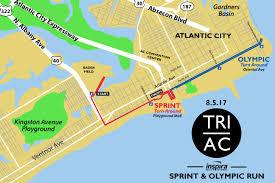 Jersey Shore Map Atlantic City Triathlon