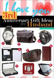 gift ideas for husband third anniversary gift ideas wedding anniversary gifts wedding