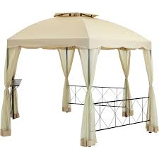 patio furniture gazebo mainstays hexagon gazebo 12 u0027 walmart com