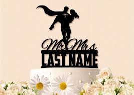 superman wedding cake topper mr and mrs superman with last name wedding cake topper 2587782