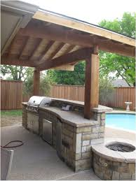 ideas for outdoor kitchen outdoor kitchen idea with amazing garden view of swimming pool