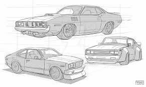 car sketches by freakyfir on deviantart