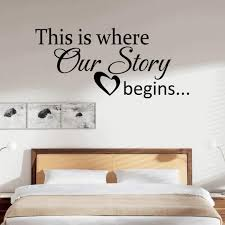 bedroom wall stickers quotes standard sham covers large shabby