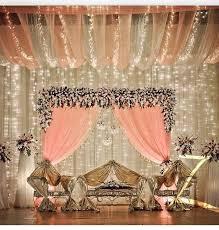 Beautiful Wedding Stage Decoration Elegant Cream Decor With Beautiful Romantic Red Roses Indian