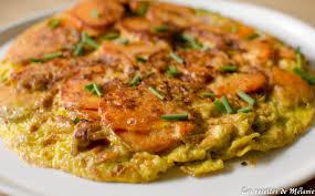 cuisiner patate douce poele tortilla de patates douces les recettes de mélanie