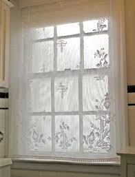 Bathroom Window Valance Ideas 54 Best Lace Panel Bathroom Images On Pinterest Home Bathroom