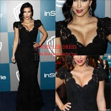 fashionable red deep v neck kim kardashian sheath