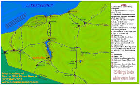 Porcupine Mountains State Park Map by Lodging Fishing Snowmobile Lake Gogebic Michigan Western Upper