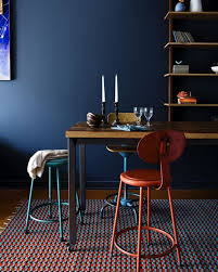 paint color inspiration dark blue dining rooms renovating nyc