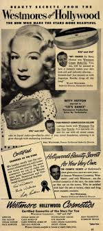 westmore cosmetics westmore cosmetics advertisement betty hutton