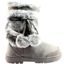s boots with fur s pom pom fully fur lined waterproof winter boots