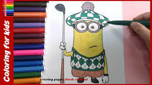 minion coloring pages for kids from coloring pages shosh channel