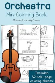 orchestra coloring pages unit studies orchestra and music classroom