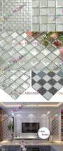 white mirror glass mosaic tile mix crystal tile for bathroom