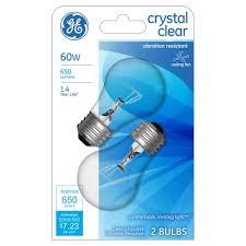 cfl ceiling fan bulbs ge 60 watt ceiling fan cfl light bulb 2 pack soft white clear