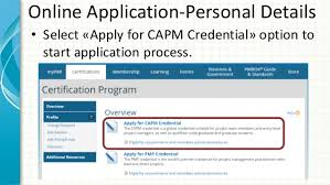 how to apply for pmi capm certification exam