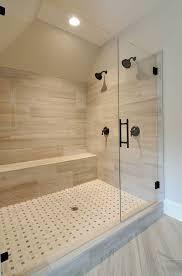 Standard Height Of Bathroom Mirror by Contemporary 3 4 Bathroom With Standard Height Shower Frameless