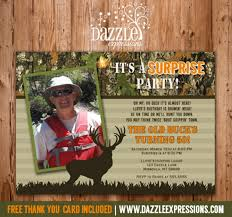 printable camo hunting surprise birthday invitation mossy oak
