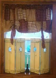 American Windows And Blinds Primitive Wooden Shutters In Buttermilk With Early American Stain