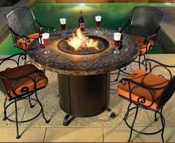 patio table with fire pit fire pit table living in style