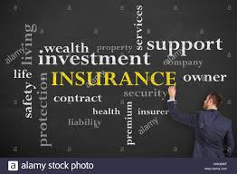 Family Safety Insurance Concept Diagram On Blackboard Insurance Family Safety