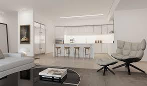 kitchen and lounge design combined white kitchen lounge interior design ideas