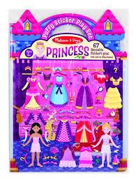 amazon com melissa u0026 doug puffy sticker set princess 67