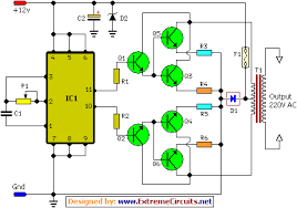 how to build 100w inverter circuit schematic circuit diagram
