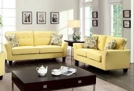 Beige Fabric Sofa Claire Yellow Padded Linen Like Fabric Sofa Loveseat W Plush