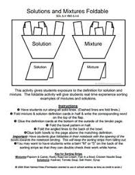 mixtures and solutions worksheet google search 5 grade science