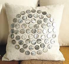 Fashion home decoration handmade sea shell cushion cover pillow