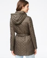 laundry by design hooded jacket laundry by design hooded belted quilted jacket coats women macy s