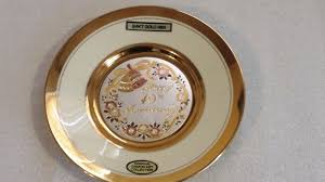 40th anniversary plates happy 40th anniversary 24kt gold chokin collection plate 6