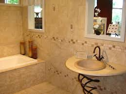 beige bathroom themed feat awesome mosaic tiles accents wall and